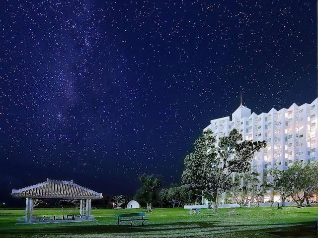 ホテルロイヤルマリンパレス石垣島 晴れた日には、公園から満点の星空が見渡せます!