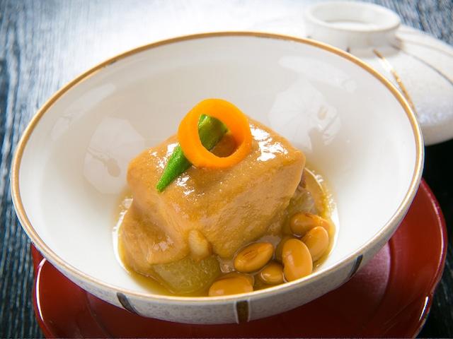 指宿温泉 いぶすき秀水園 薩摩黒豚やわらか煮