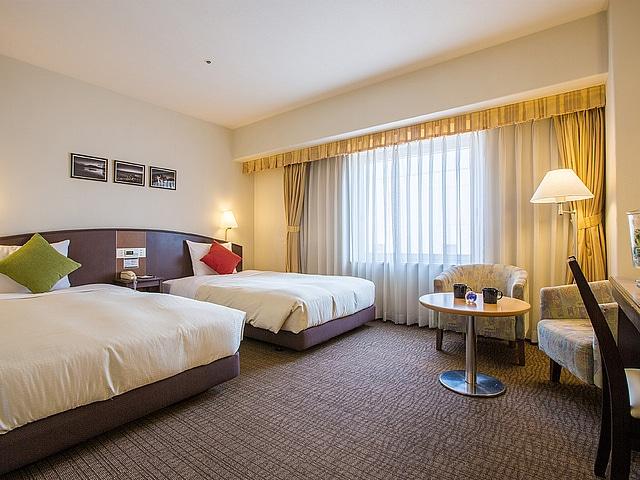 ホテルリソル函館 ツインルーム 17~24㎡ ベッド幅100㎝2台