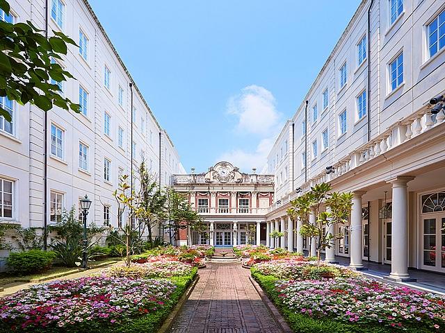 ホテルアムステルダム 内庭