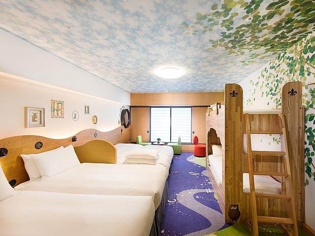 【舞浜】ヒルトン東京ベイ ファミリーハッピーマジックルーム 6ベッド