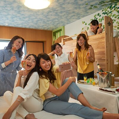 Together noisily ♪ Large room plan image