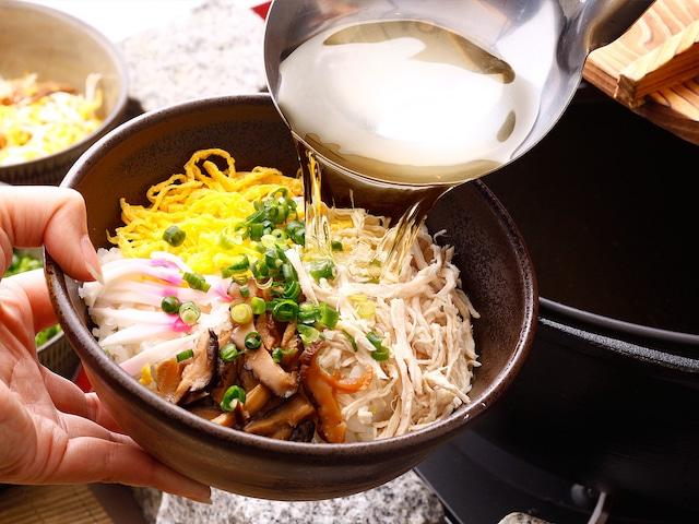 奄美サンプラザホテル サンプラの鶏飯はスープが美味しい♪