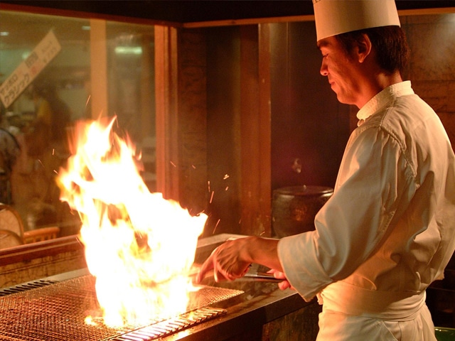湯元ニセコプリンスホテルひらふ亭 炭火焼コーナー