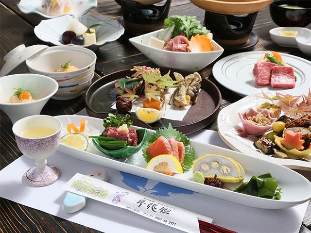 黒川温泉 夢龍胆 夕食イメージ