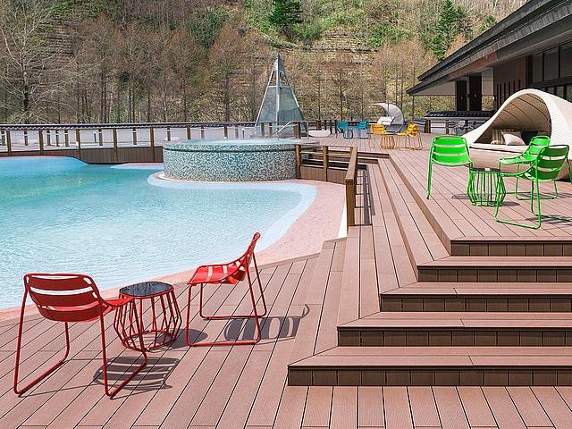 きたゆざわ 森のソラニワ 温泉ビーチ「ト・コ・ナッツ」
