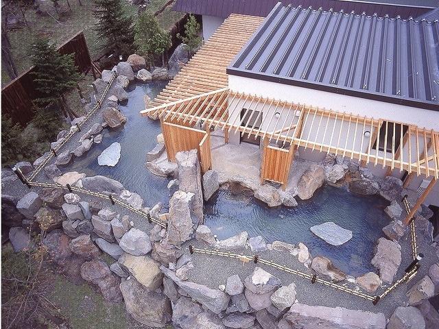ホテル阿寒湖荘 露天風呂 星の湯 月の湯