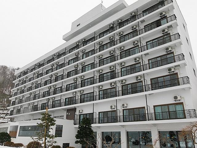 洞爺温泉ホテル華美  外観 冬