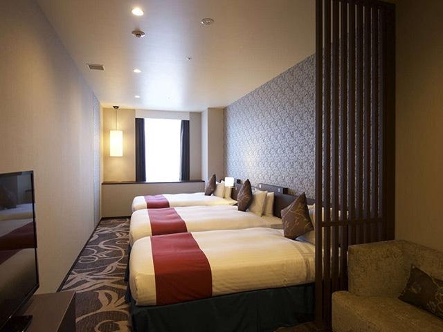 クインテッサホテル大阪ベイ(旧ラ・レゾン大阪) デラックスツインプラス(3名1室) 45㎡(一例)