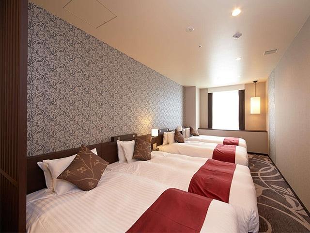 クインテッサホテル大阪ベイ(旧ラ・レゾン大阪) デラックストリプルプラス(4名1室) 45㎡(一例)