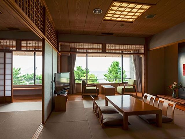 唐津 網元の宿 汐湯凪の音 オーシャンビュー特別室  72㎡