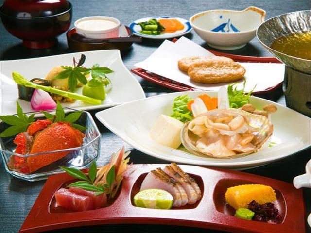 屋久島 田代別館 夕食一例