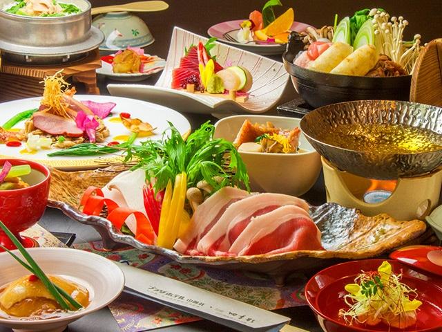 田沢湖高原温泉 プラザホテル山麓荘 お食事一例