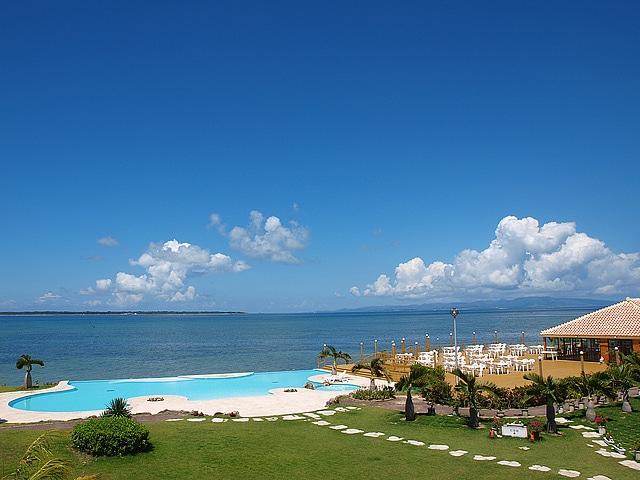 石垣島ビーチホテルサンシャイン 庭景色