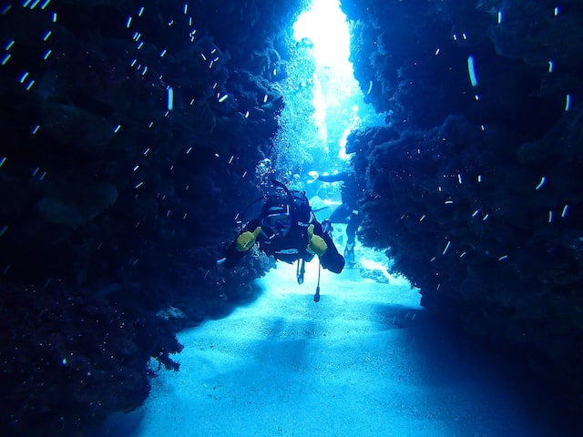 青の洞窟で体験ダイビング!イメージ