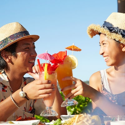 There is hotel gourmet! There is sightseeing and is perfect! Super resort Okinawa image
