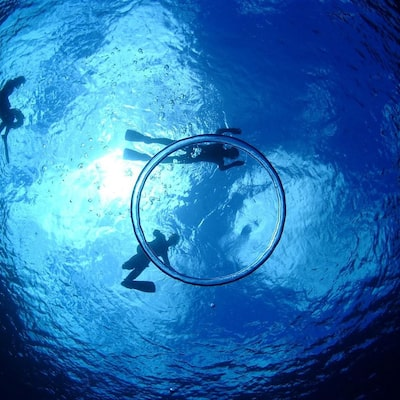 Image with blue cave snorkeling - experience-based diving