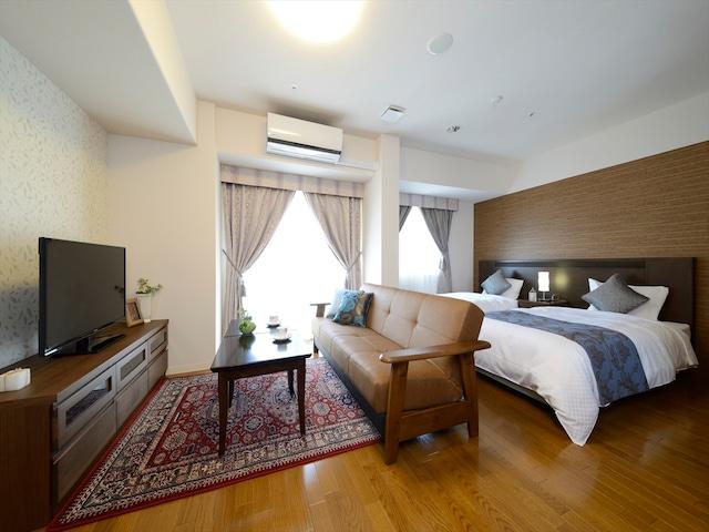 天然温泉 ホテルパコ函館 別亭デラックスツイン(バスユニット) ベッド幅97㎝