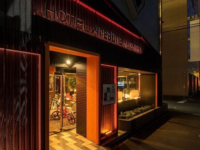 ホテルエリアワン釧路 玄関