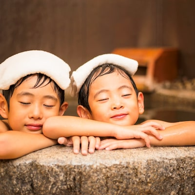After all hotel with large communal bath is good ♪ Image