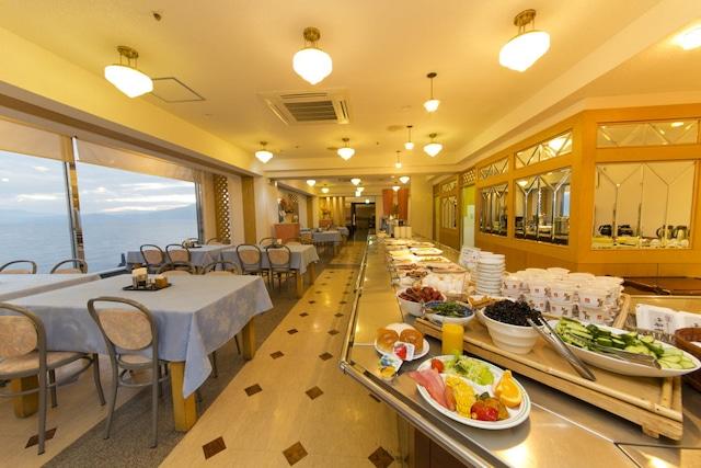 指宿温泉 指宿海上ホテル 朝食会場