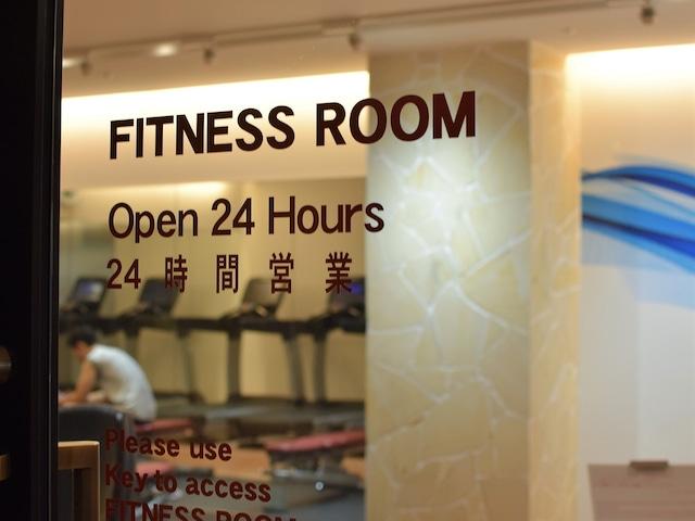 沖縄ハーバービューホテル 24時間利用可能なフィットネスルーム