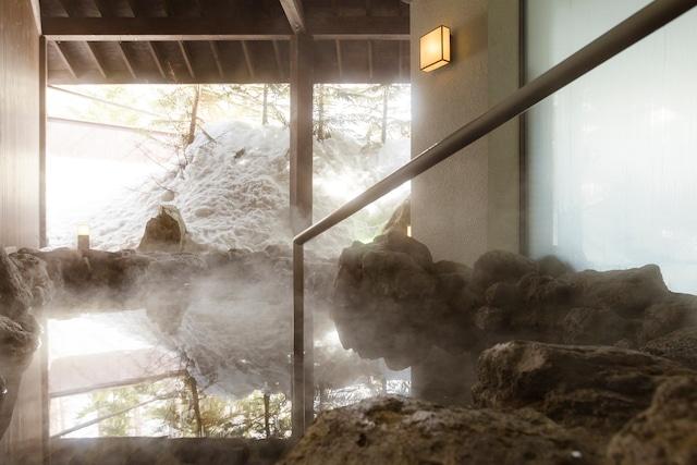 サホロリゾートホテル 露天風呂(冬)