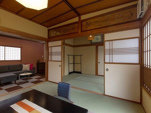 月岡温泉 湯あそびの宿 曙 デラックス客室「すずかぜ」 12畳+リビングルーム