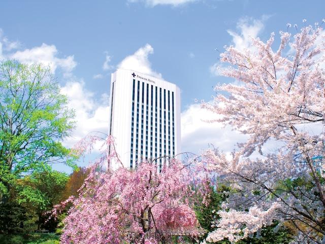 プレミアホテル中島公園札幌 外観 春