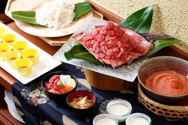 湯の川温泉 笑 函館屋 朝食はいかやマグロ中落食べ放題!