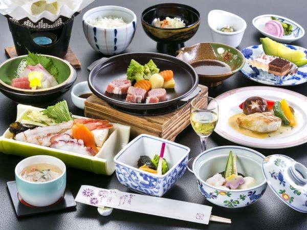 盛岡つなぎ温泉 ホテル紫苑 夕食例