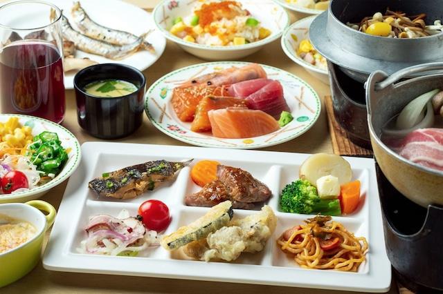 層雲峡 朝陽亭 夕食バイキング②