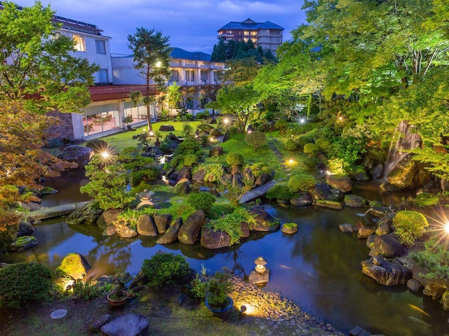月岡温泉 美の湯 風鈴屋 庭園