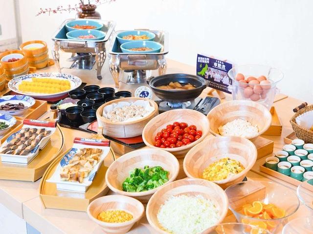 月岡温泉 美の湯 風鈴屋 朝食
