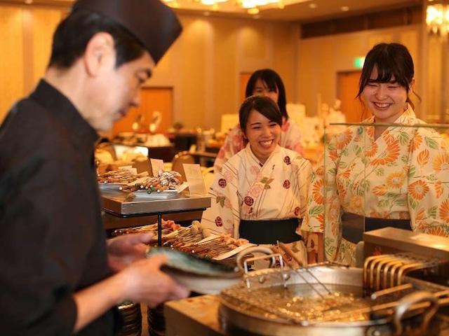 小豆島温泉 ベイリゾートホテル小豆島 夕食・揚げたて天ぷら