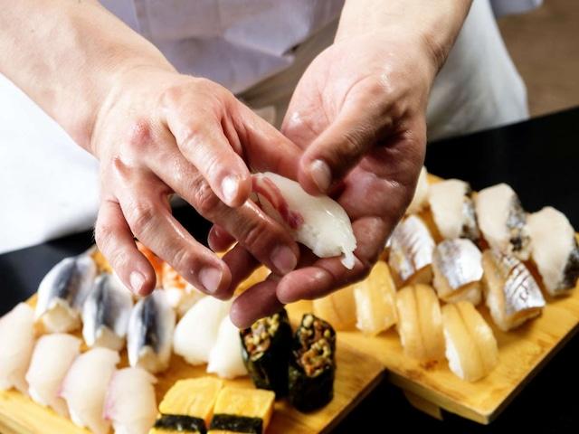 オリビアン小豆島 夕陽ヶ丘ホテル 夕食バイキング・寿司