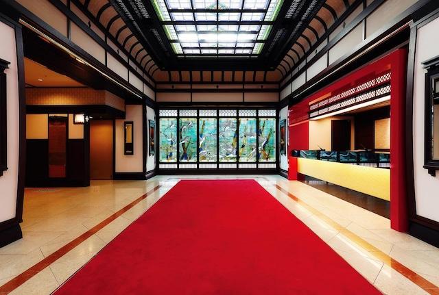 京都山科 ホテル山楽 大正ロマンの雰囲気を演出したロビー