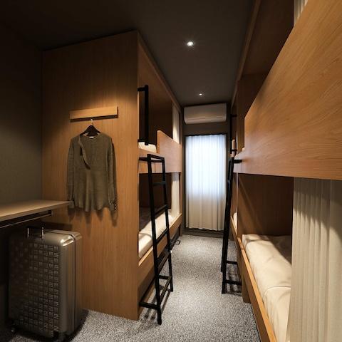 【上野】GRIDS TOKYO UENO HOTEL&HOSTEL ドミトリータイプ2