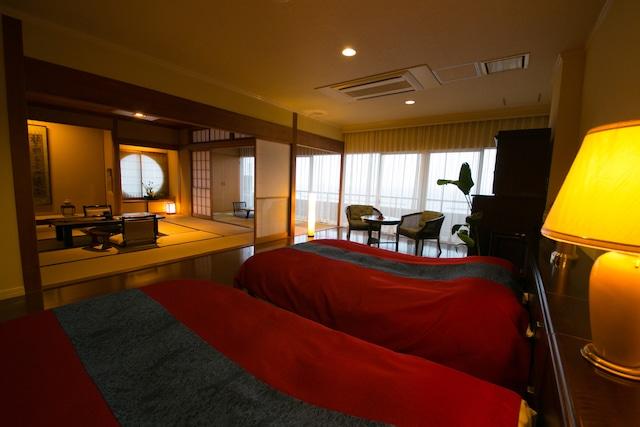 指宿温泉 いぶすき秀水園 和洋室 島津 12.5畳+洋間