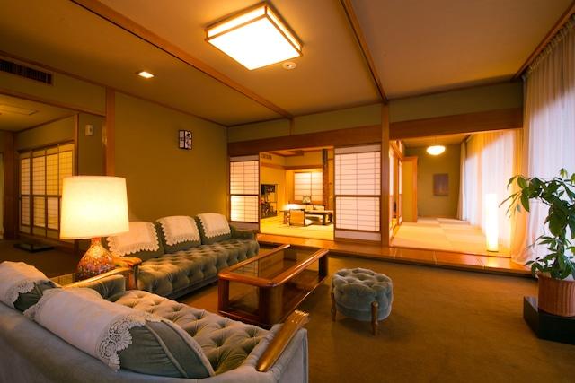 指宿温泉 いぶすき秀水園 特別室 12.5畳+8畳+応接間(15畳)