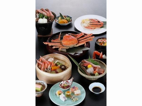 湖畔の温泉宿 くにびき 夕食;蟹