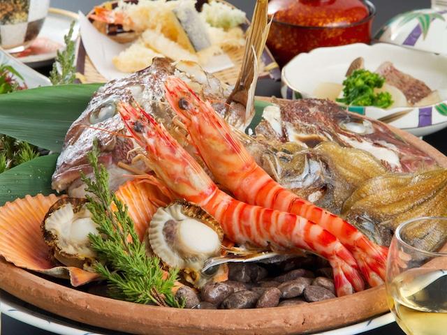 湯ノ浦温泉 ホテルアジュール汐の丸 夕食