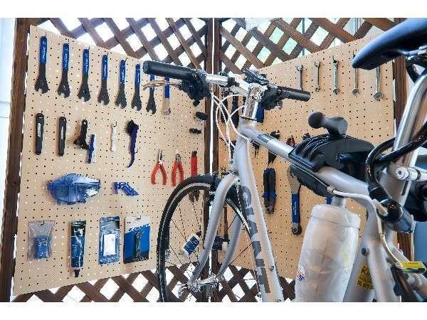 湯ノ浦温泉 ホテルアジュール汐の丸 自転車整備スペース
