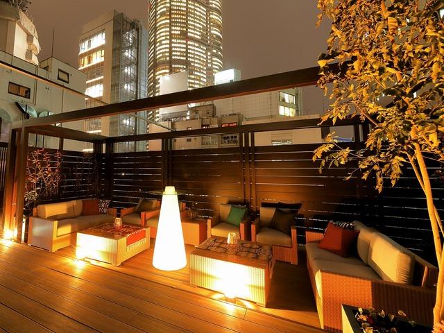 【六本木】アクトホテル六本木 ルーフトップガーデン(夜)