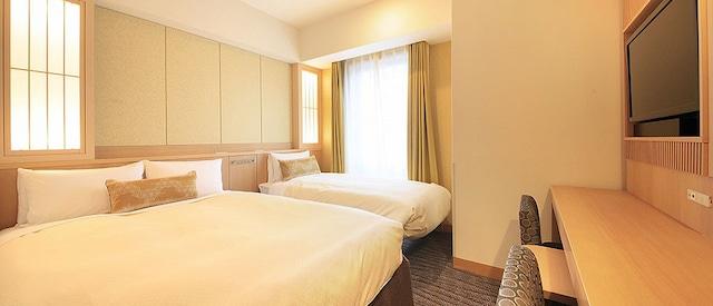 ベッセルホテルカンパーナ京都五条 【建物側】エコノミールーム(19㎡・ベット2台)3名1室はベット1台で2名様利用です