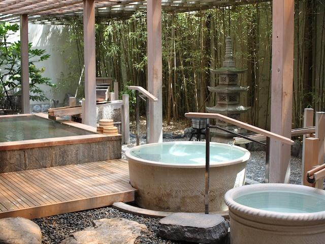 花びしホテル 女性温泉大浴場「はなの湯」露天風呂