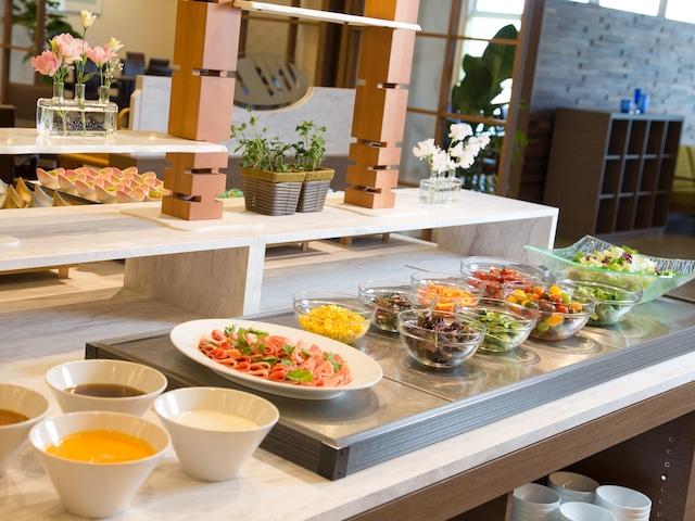 花びしホテル 朝食バイキング サラダバー