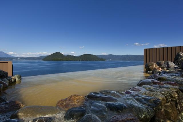 ザ レイクビューTOYA 乃の風リゾート 昼間は洞爺湖の絶景が見渡せます