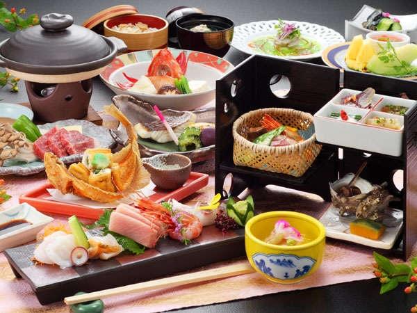 秋田温泉さとみ 夕食一例