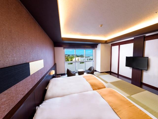 ロイヤルホテル 沖縄残波岬 琉球和室ツイン(オーシャンビュー)
